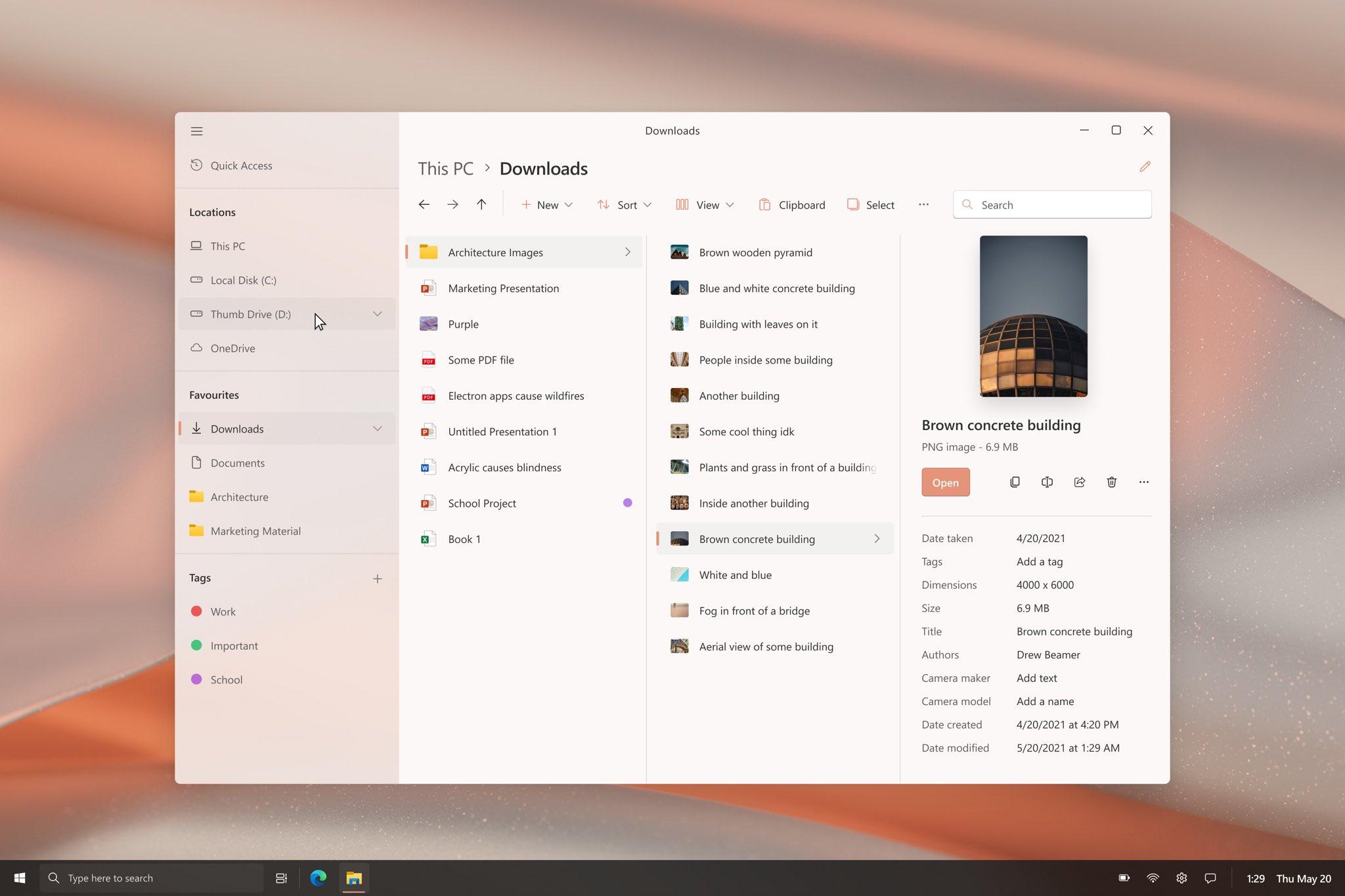 Windows 10 - Concept - Esplora file con WinUI 2.6