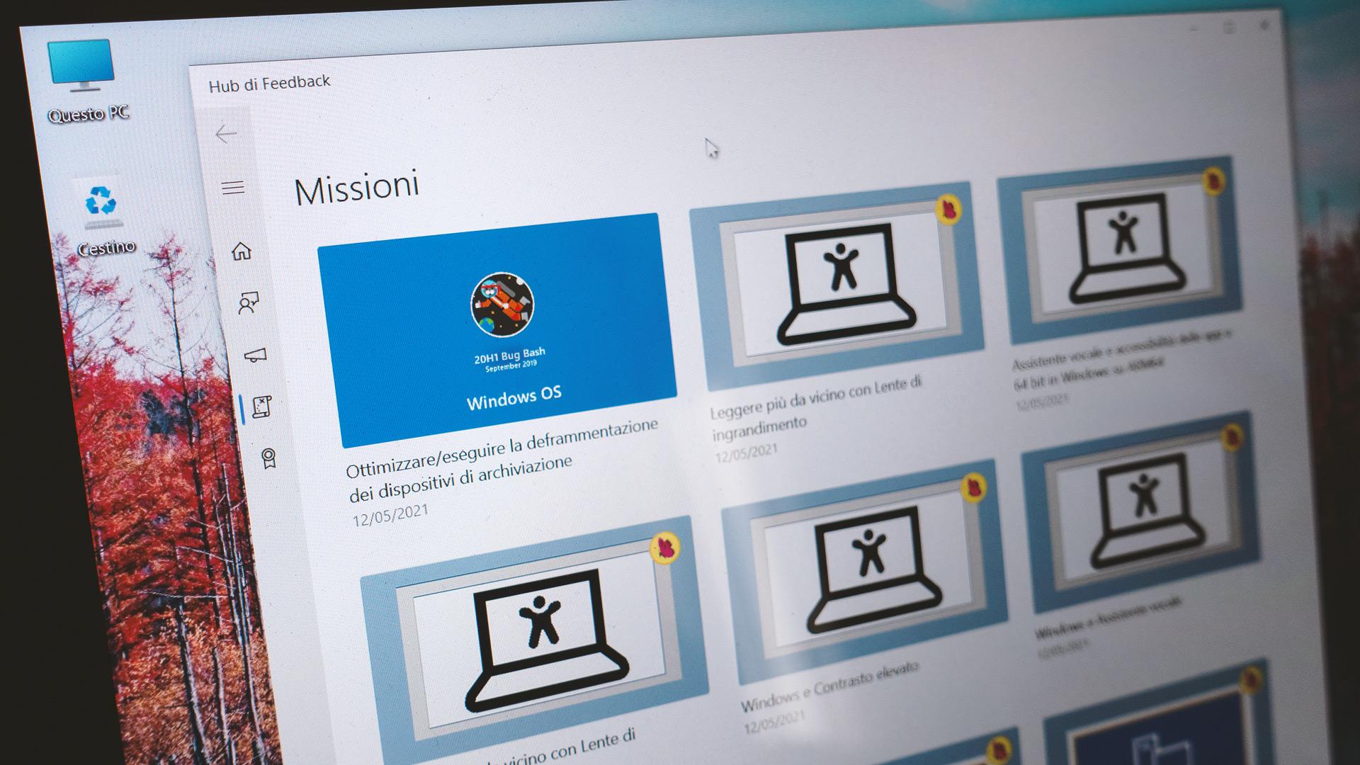 Windows 10 - Hub di Feedback - Missioni di Bug Bash
