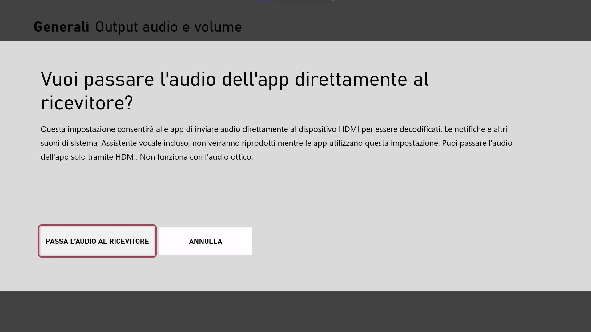 Xbox - Aggiornamento di maggio 2021 - Audio PassThrough