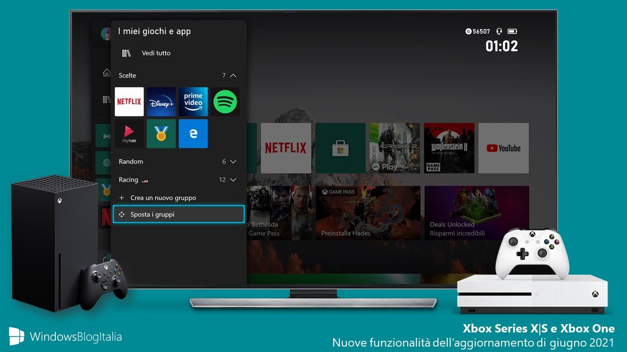 Aggiornamenti Xbox - Nuove funzionalità dell'aggiornamento di giugno 2021
