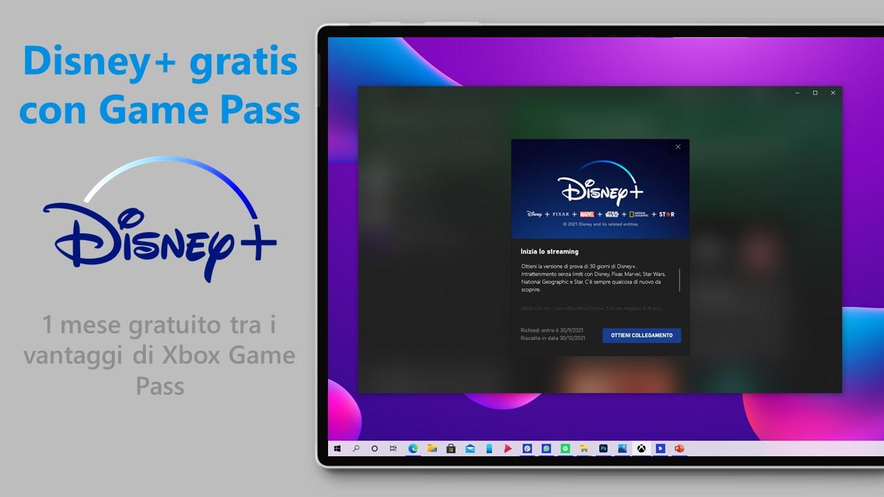 Disney+ gratis con Xbox Game Pass