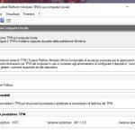 Gestione Trusted Platform Module (TPM) sul computer locale - Windows 10