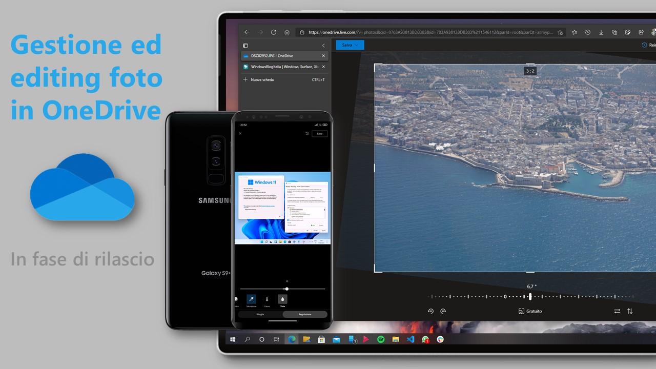Gestione ed editing foto in OneDrive