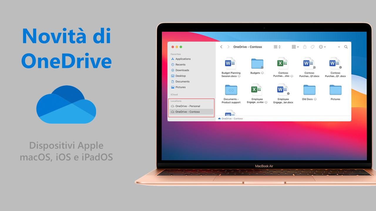 Microsoft OneDrive - Nuove feature per dispositivi Apple - 2021