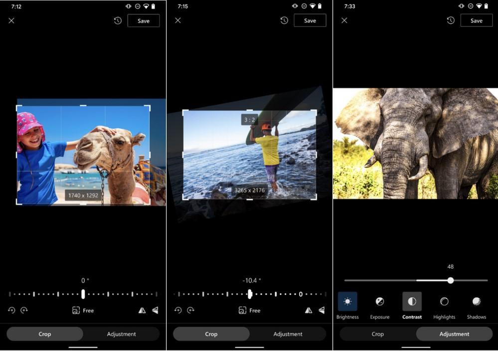 OneDrive per Android - Nuove funzionalità di modifica e gestione delle foto
