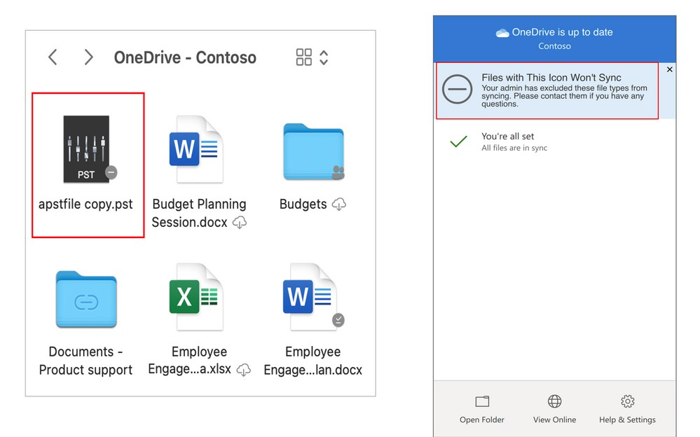 OneDrive per macOS - Blocco sincronizzazione per alcune tipologie specifiche di file