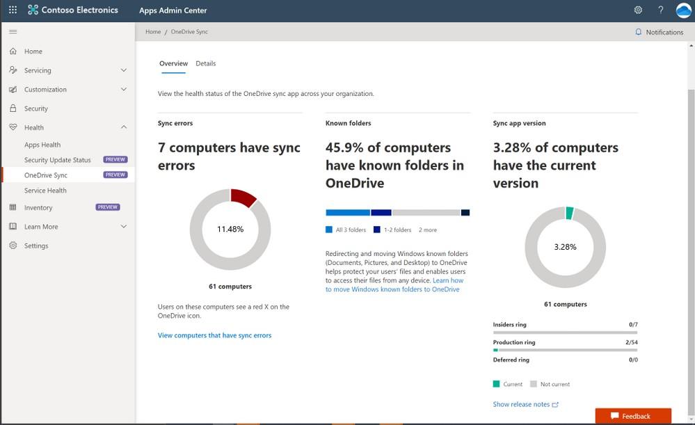 OneDrive per macOS - Portale Sync Admin in Microsoft 365 Apps