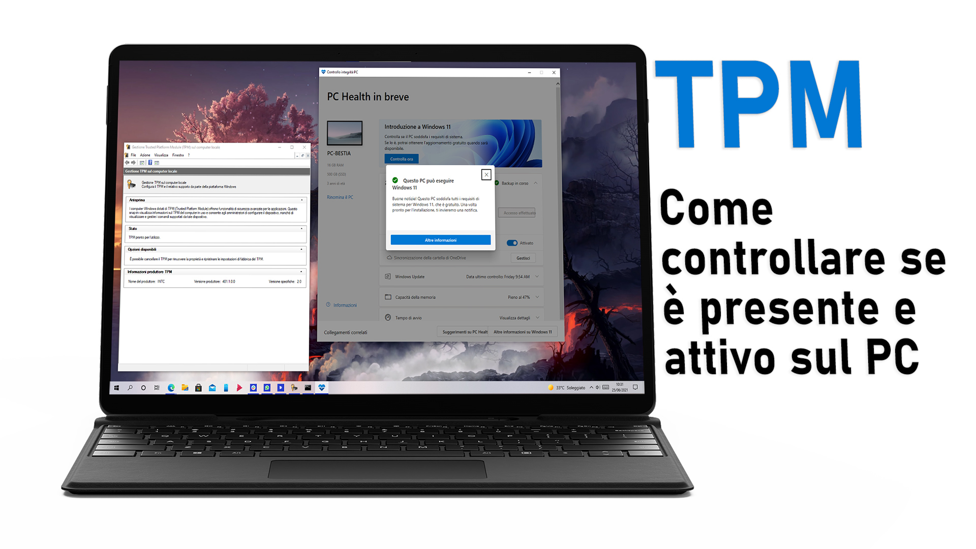 TPM - Come controllare se è presente e attivo sul PC con Windows 10