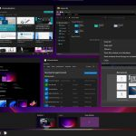 Windows 11 - Build 21996 - Nuova Visualizzazione attività e desktop virtuali con tema scuro
