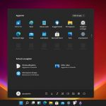 Windows 11 - Build 21996 - Nuovo menu Start tema scuro - Primo piano
