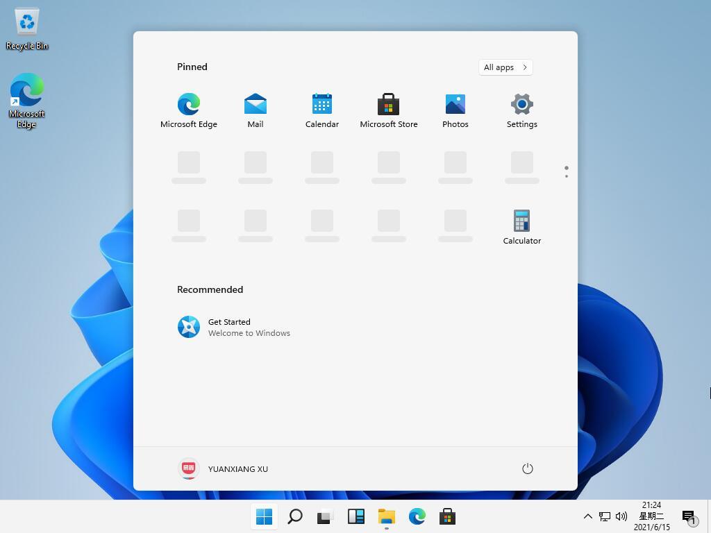Windows 11 - Menu Start - Leak