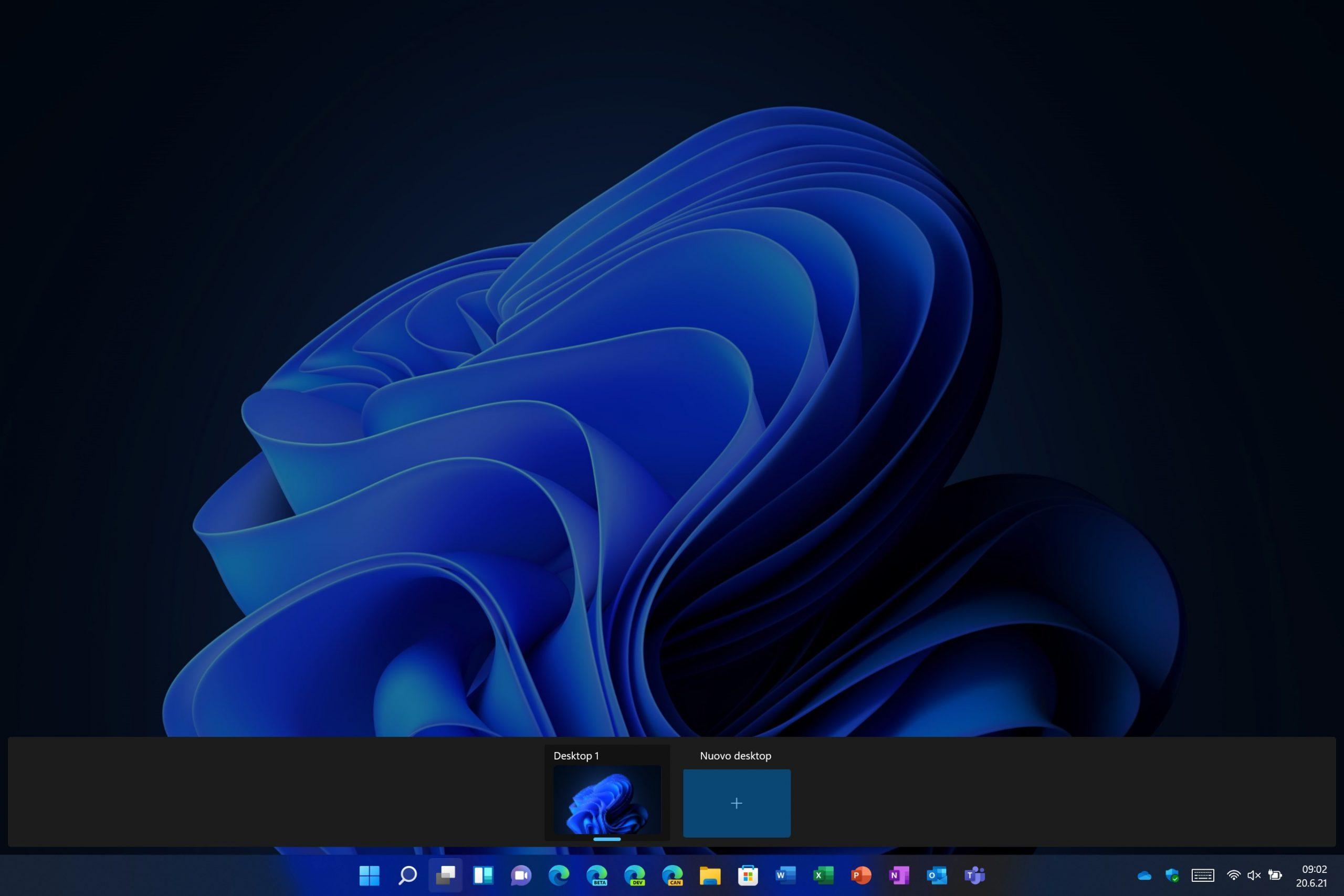 Windows 11 - Visualizzazione attività