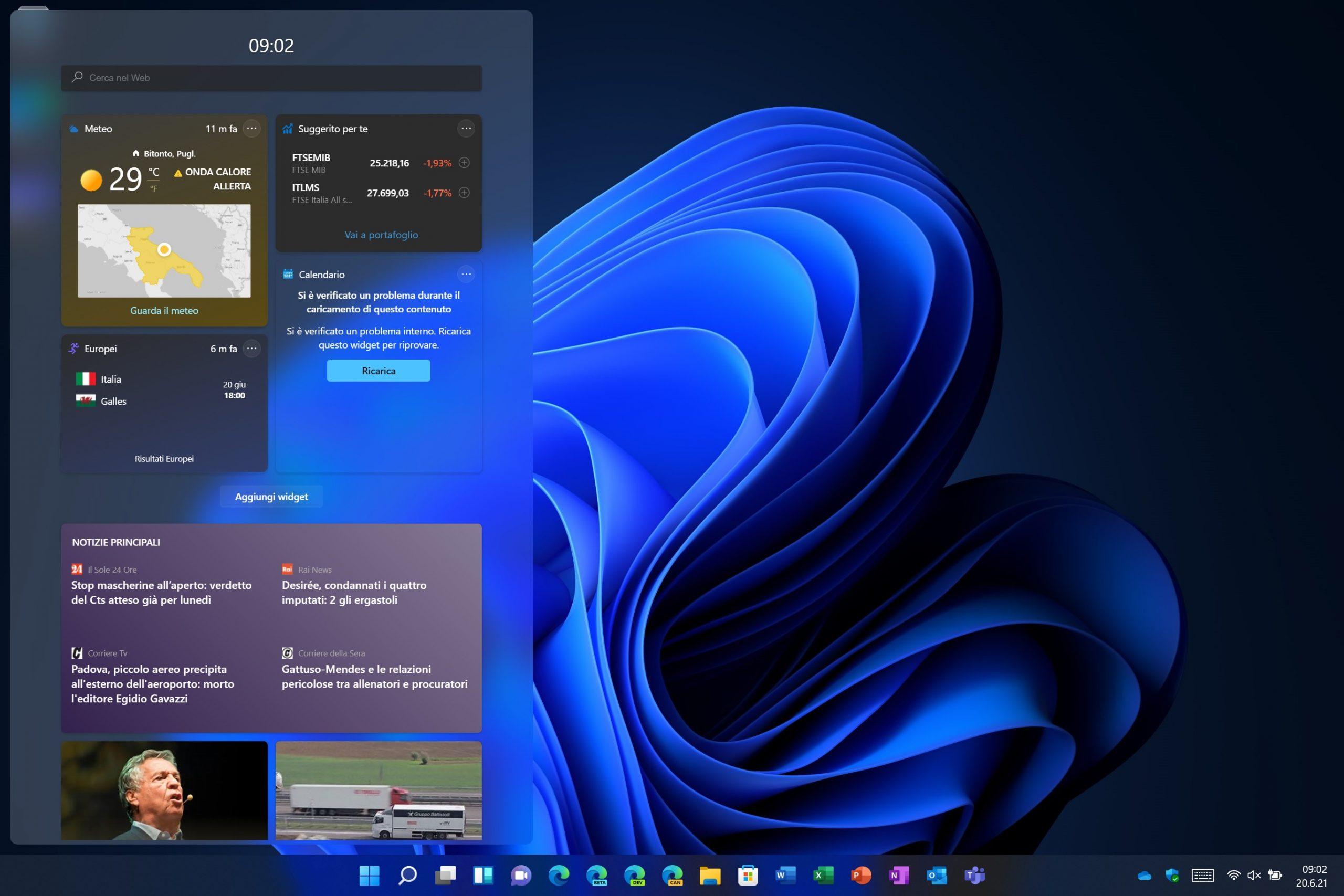 Windows 11 - Windows Dashboard - Widget