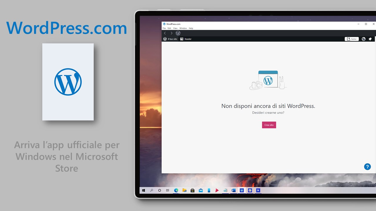 WordPress - App ufficiale per Windows nel Microsoft Store