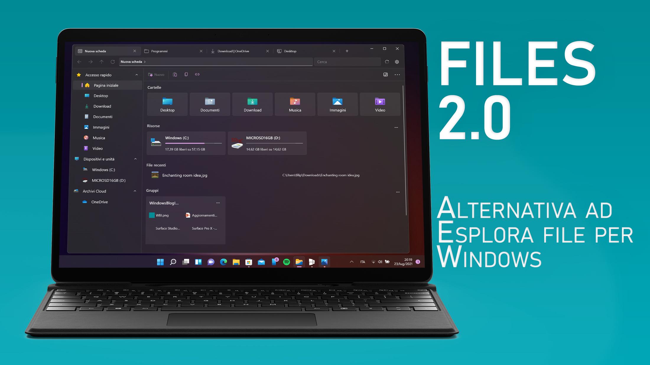 Files 2.0 per Windows - App alternativa ad Esplora file