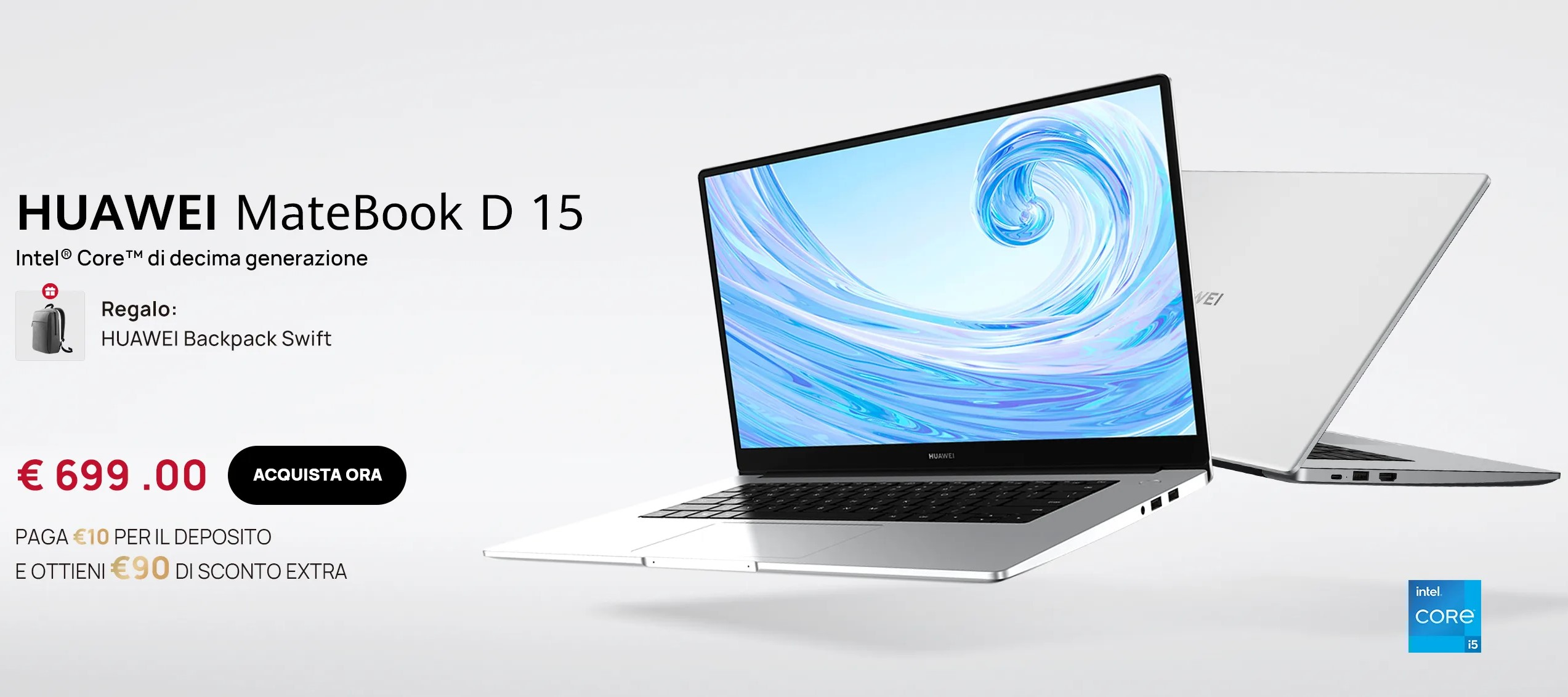 Huawei MateBook D 15 - Offerte estive 2021