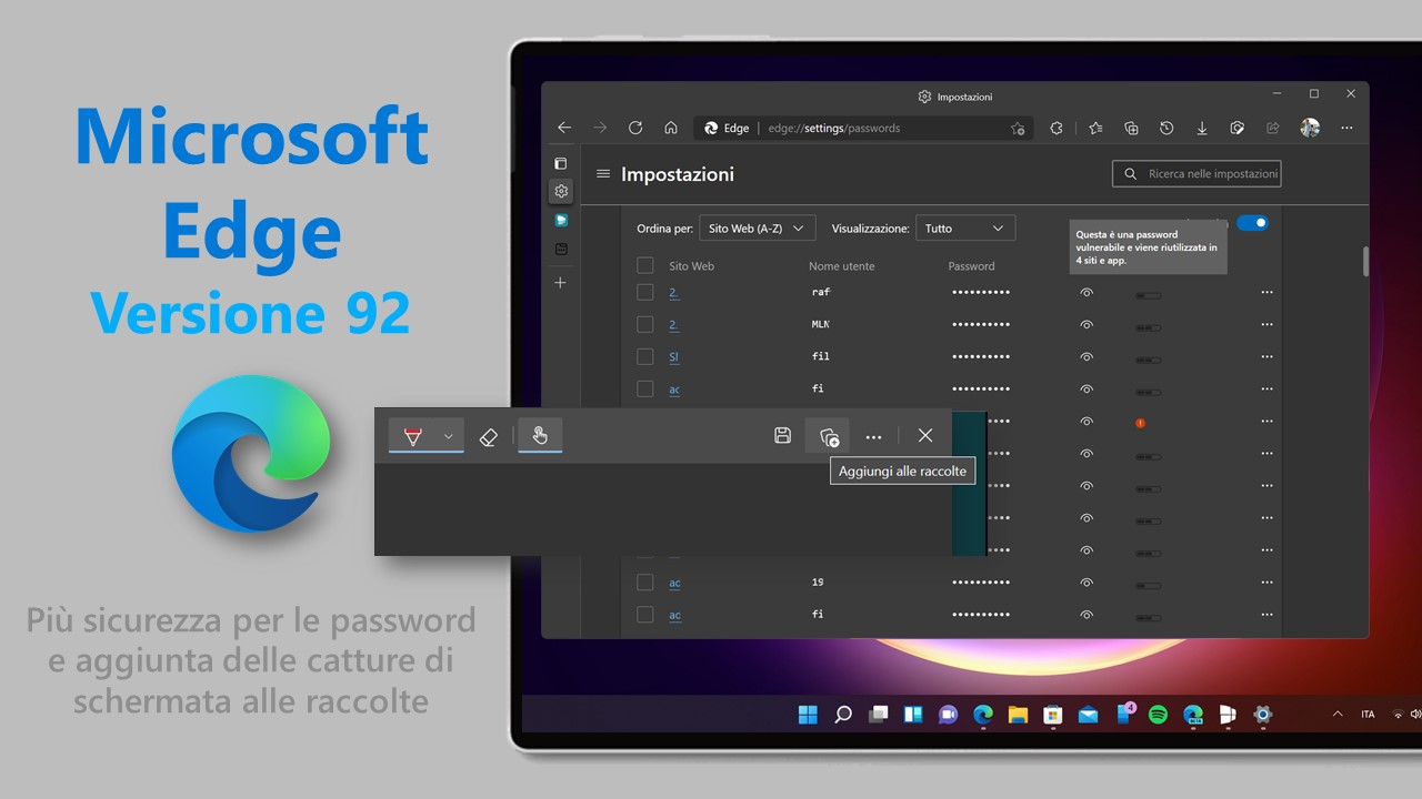Microsoft Edge 92 per Windows e macOS