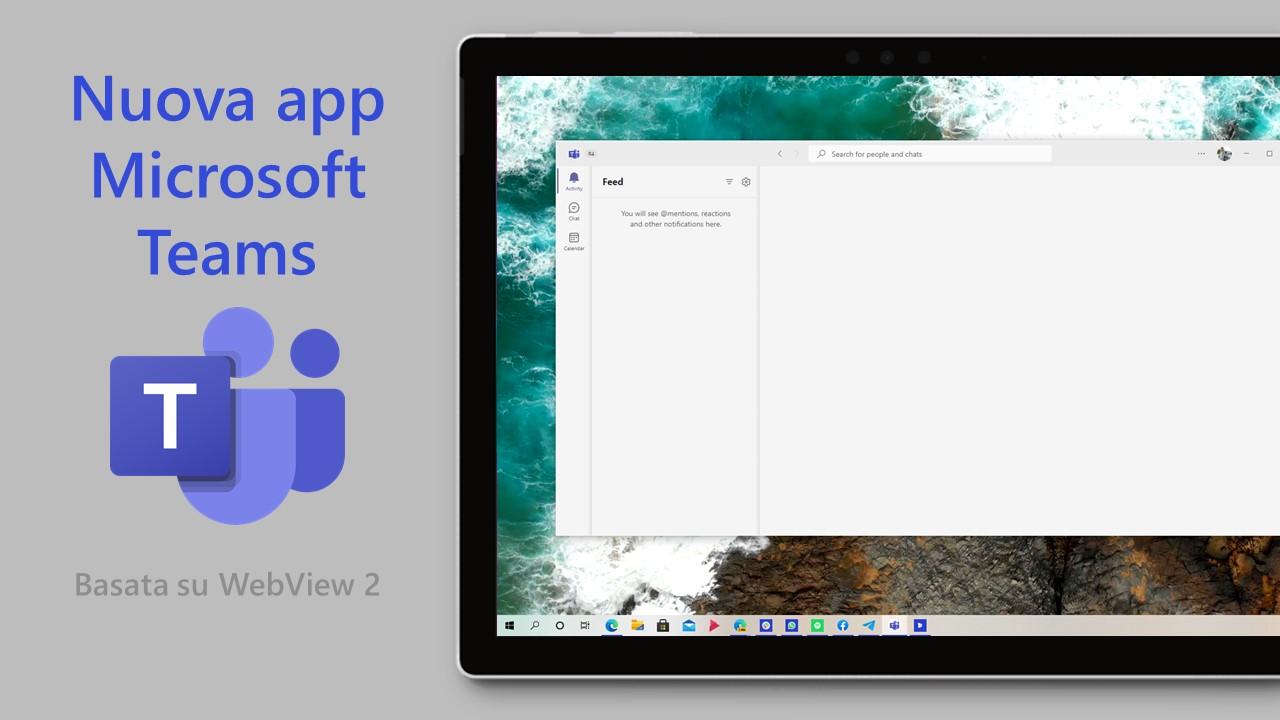Nuova app di Microsoft Teams per Windows