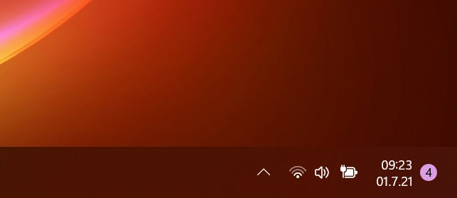 Windows 11 Build 22000.51 - Barra delle applicazioni - Area di notifica e orologio