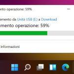 Windows 11 Build 22000.51 - Barra delle applicazioni - Indicatore progresso