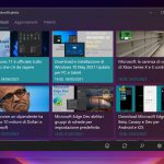 Windows 11 Build 22000.51 - Gestione finestre - Touch target