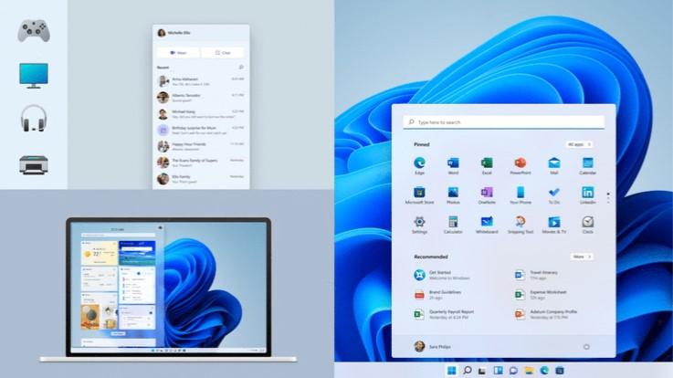 Windows 11 - Dettagli della nuova interfaccia grafica