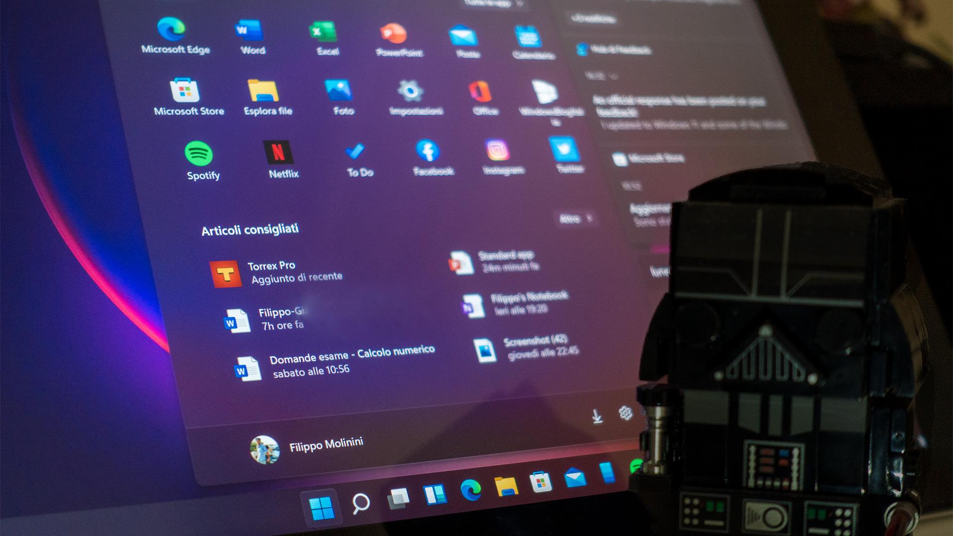 Windows 11 - Tema scuro