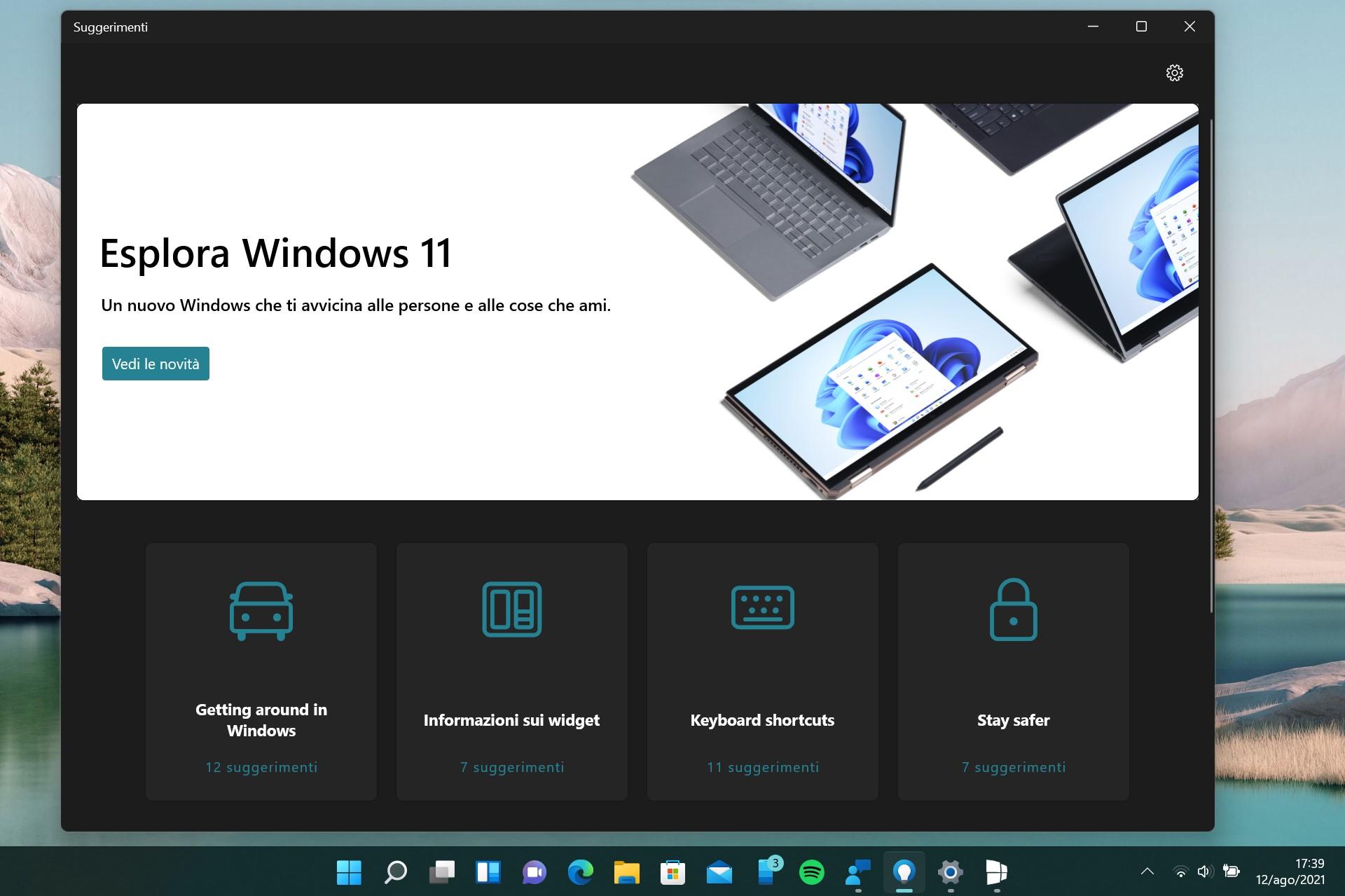 App Suggerimenti in Windows 11
