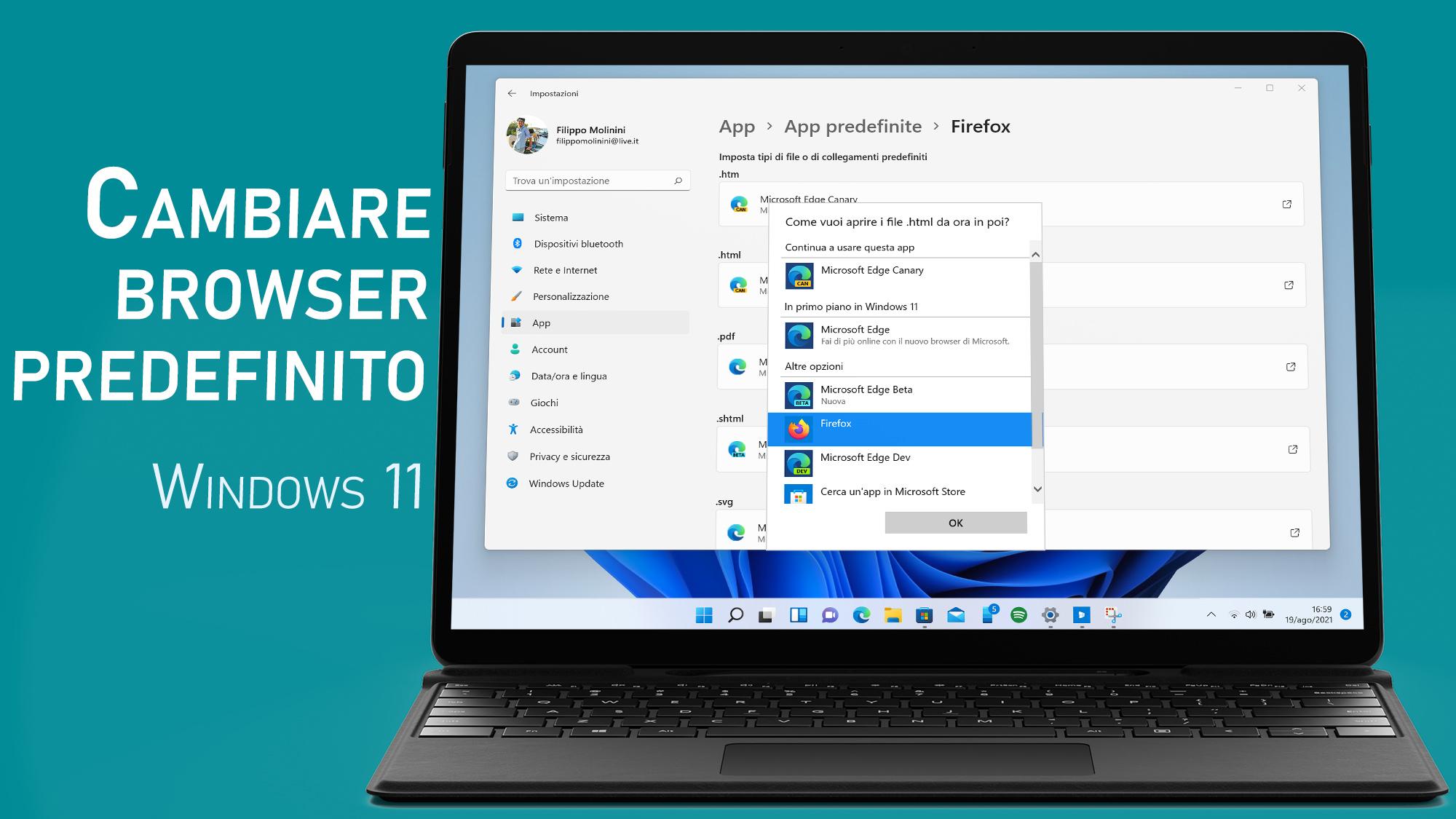 Come cambiare il browser predefinito in Windows 11