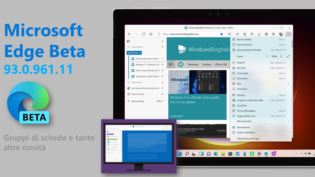 Microsoft Edge Beta - 93.0.961.11