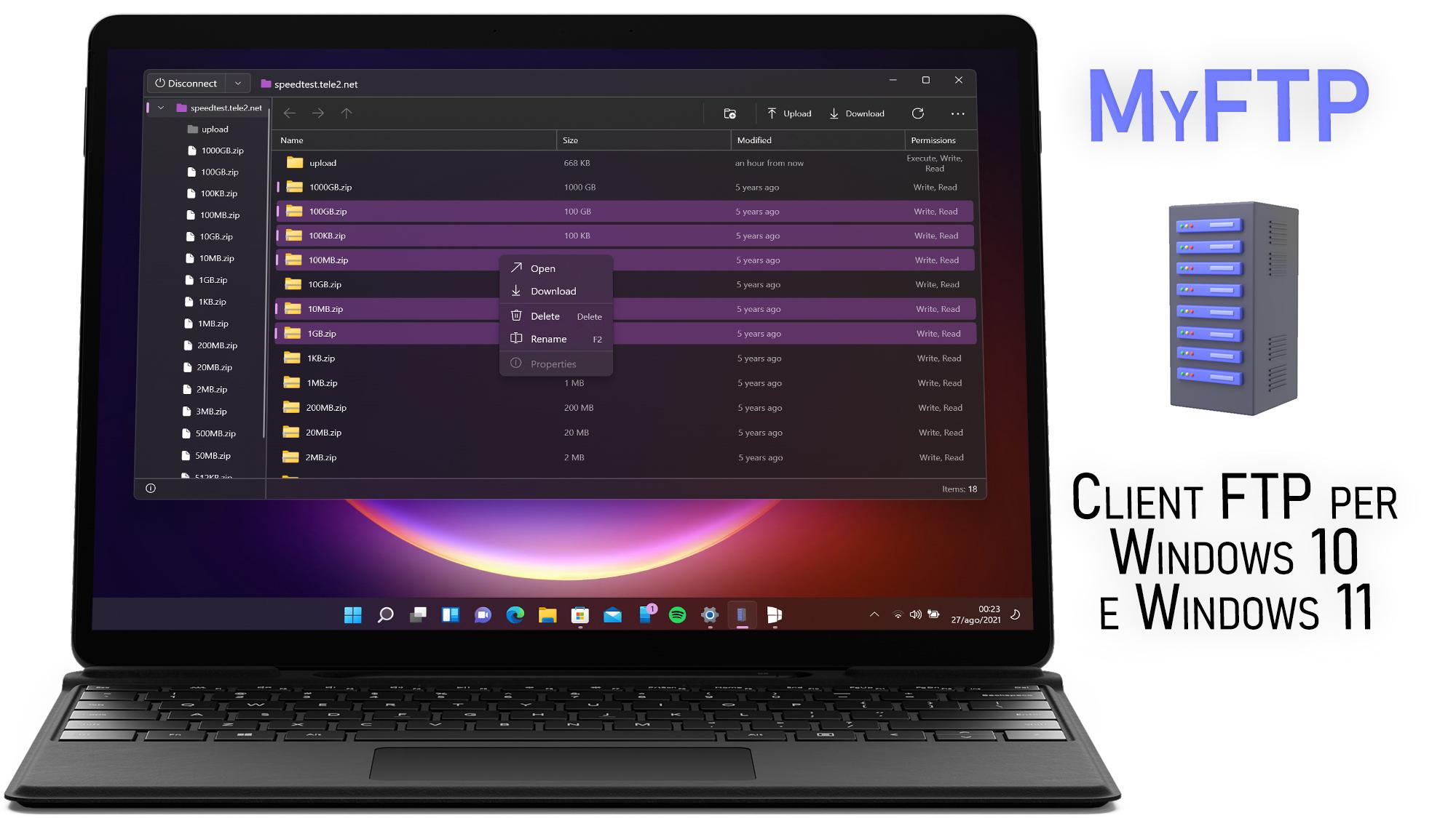MyFTP - Client FTP per Windows 10 e Windows 11