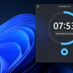 Windows 11 - App Orologio - Sessione produttiva in modalità sempre in primo piano