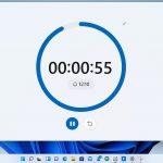 Windows 11 - App Orologio - Timer in modalità schermo intero