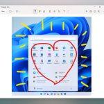 Windows 11 - Interfaccia di modifica delle immagini del nuovo Strumento di cattura