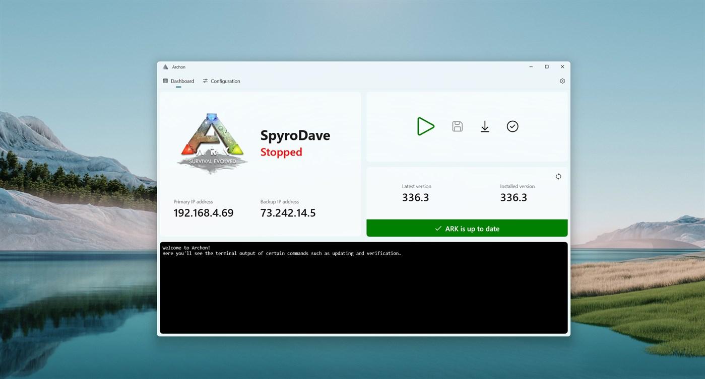 Archon - App per Windows - Gestisci il server Linux ARK