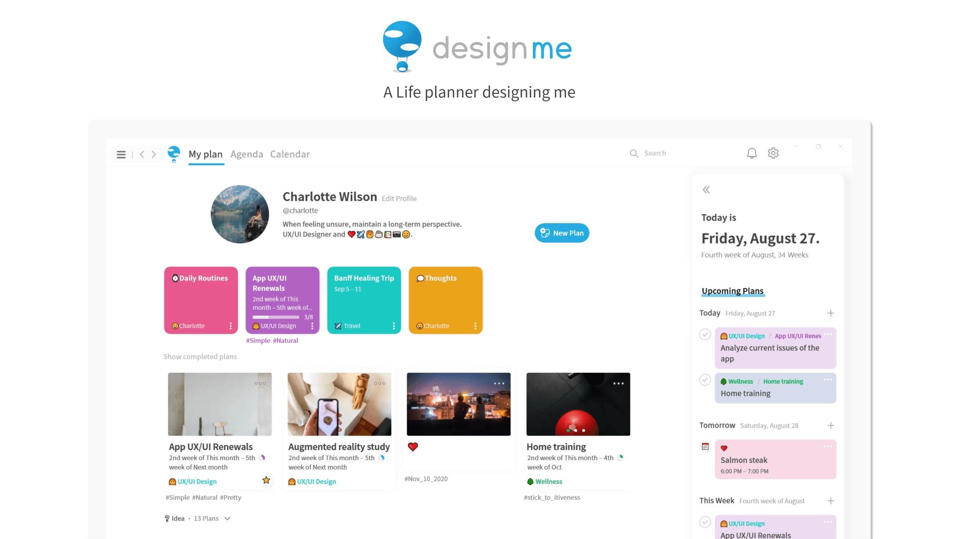 DesignMe - App per Windows - App per organizzare la propria vita