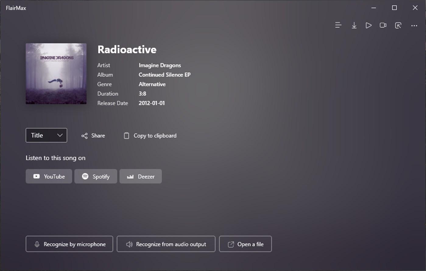 FlairMax - App per Windows - Riconosci la musica e mostra il testo
