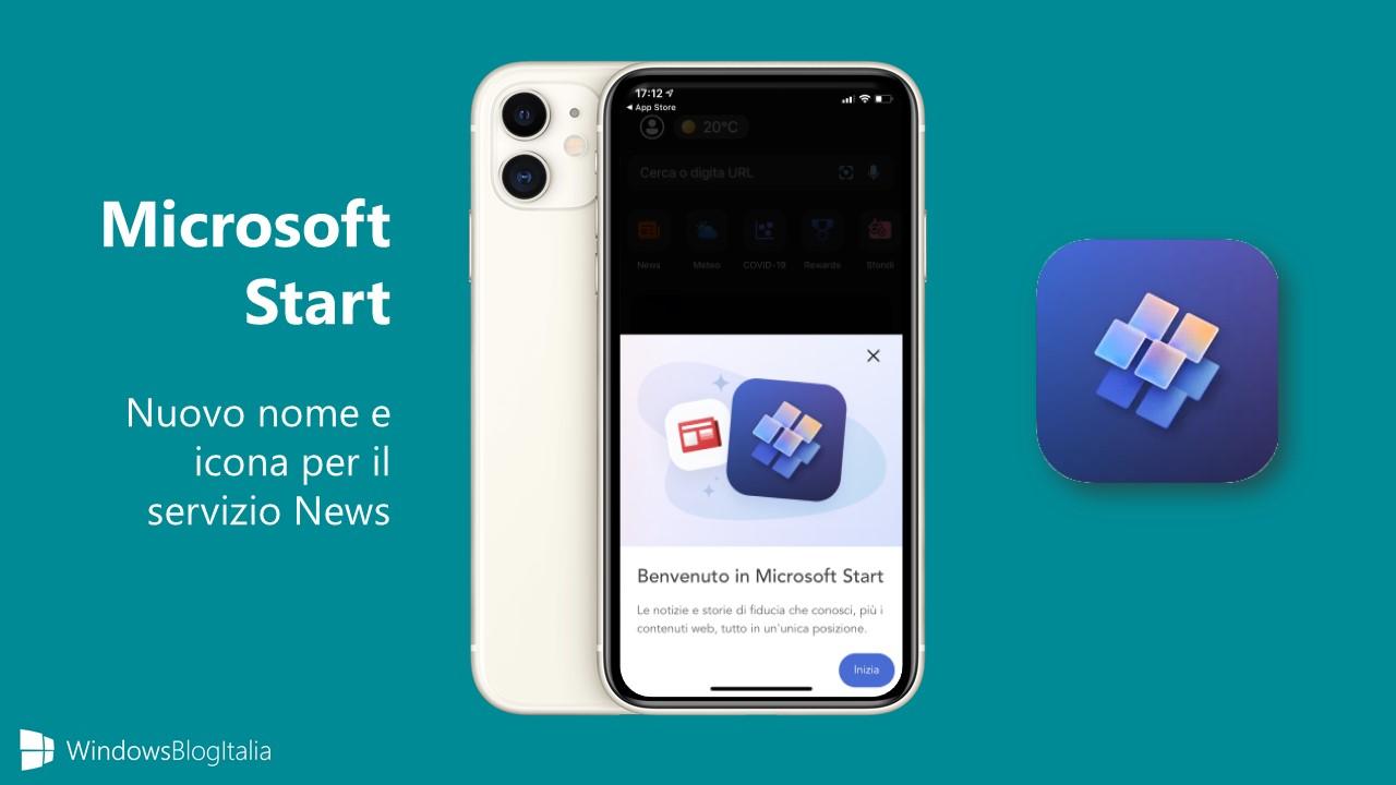 Microsoft Start - Nuovo nome e icona per il servizio News
