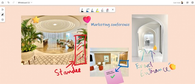 Microsoft Whiteboard - Aggiunta immagini