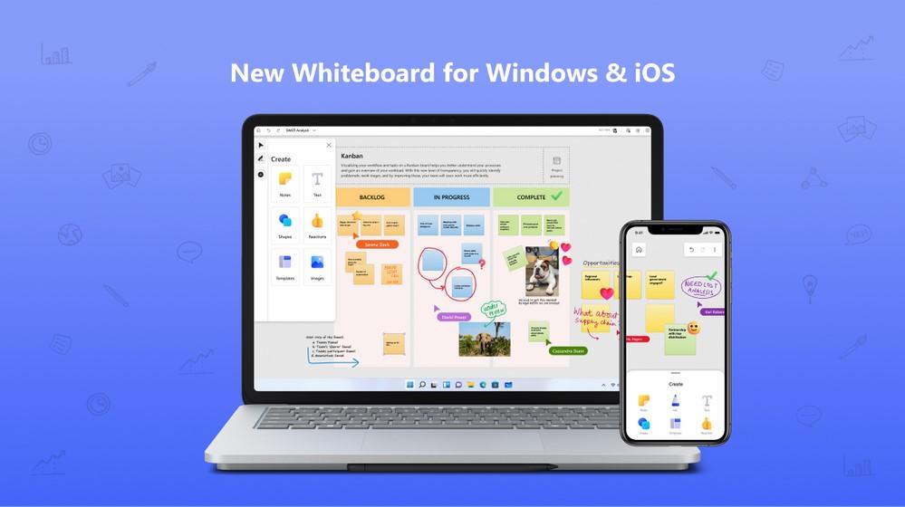 Microsoft Whiteboard - App per Windows e iOS