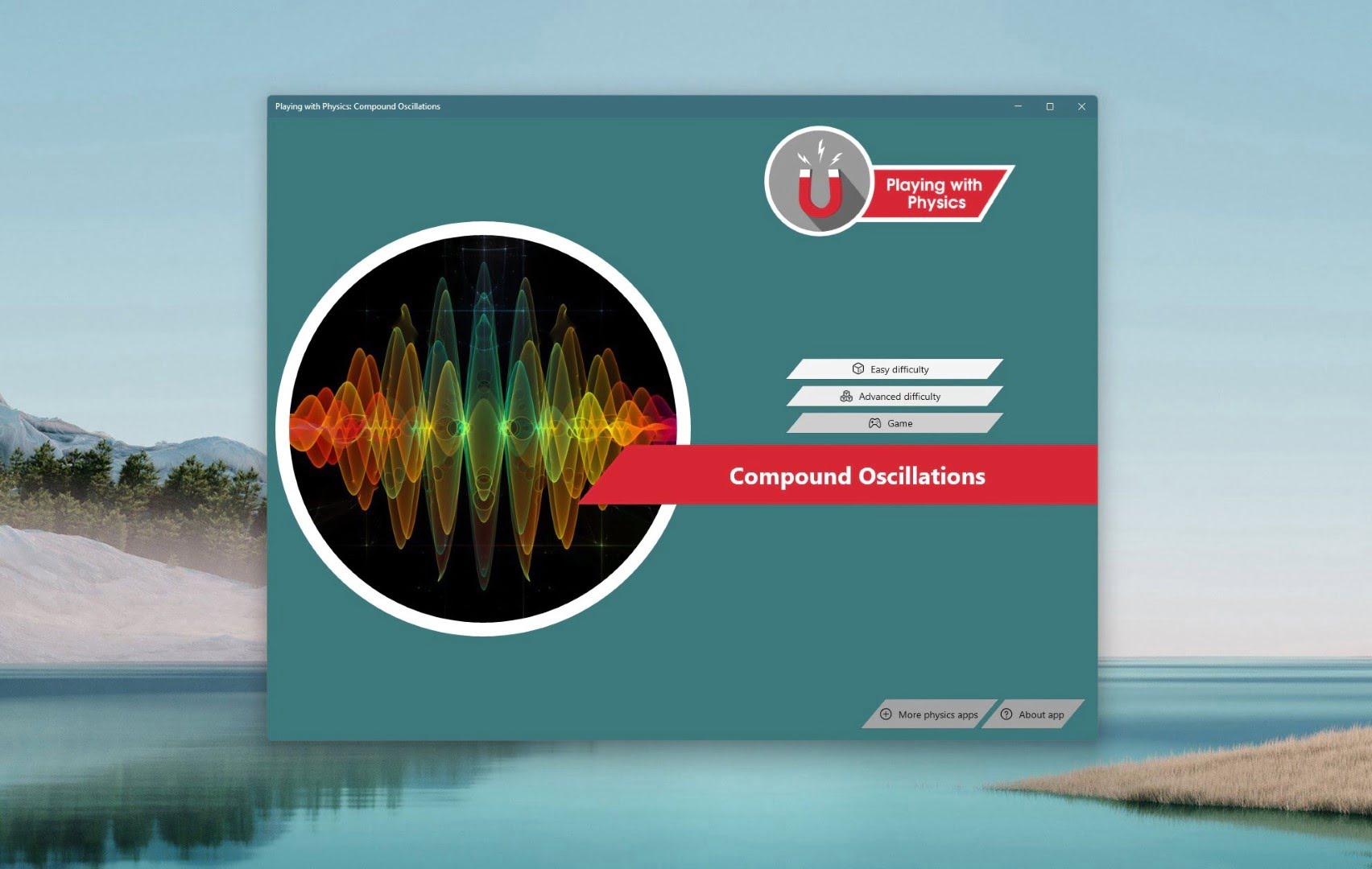 Playing with Physics Compound Oscillations - App per Windows - Render di oscillazioni multiple