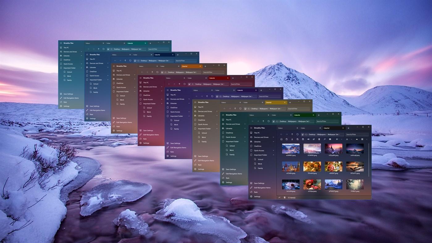 Shrestha Files Pro - App per Windows - File manager con schede e doppio pannello