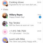 Skype - Barra laterale con design aggiornato