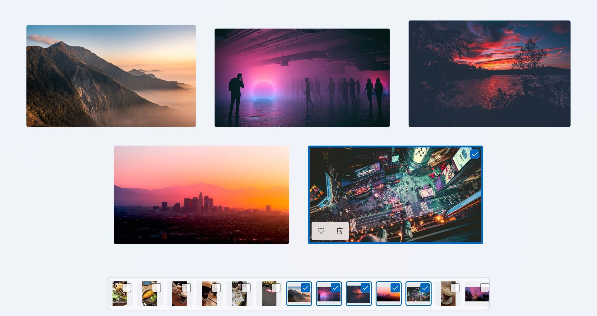 Windows 11 - App Foto - Visualizzazione multipla