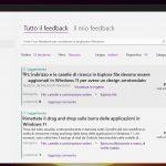 Windows 11 - Hub di Feedback - Schermata feedback - Tema chiaro
