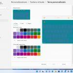 Windows 11 - Impostazioni - Personalizzazione - Tastiera virtuale - Tema personalizzato