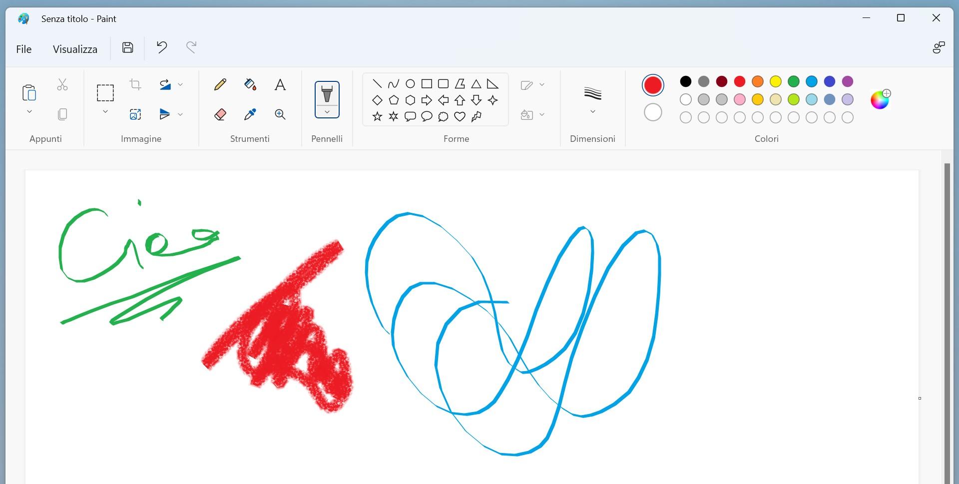 Windows 11 - Microsoft Paint - Nuova barra degli strumenti
