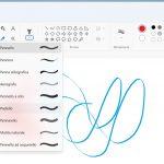 Windows 11 - Microsoft Paint - Nuovo menu Pennelli