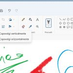 Windows 11 - Microsoft Paint - Nuovo menu per opzioni di rotazione