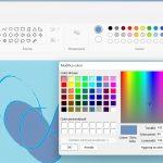 Windows 11 - Microsoft Paint - Selettore colori